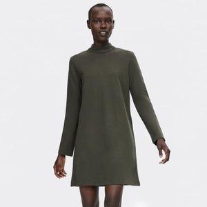 NWT $39 Zara Olive Green Shift Dress   Size: S